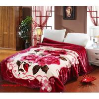 Cheap Blanket with flowers Grade A B Thicken Laschel Blankets Home Textile pink&beige blankets for sale