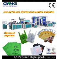 Cheap Automatic non woven carry bag making machine with two stepper motor for sale