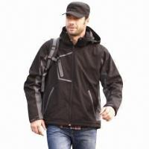 Cheap Men's Softshell Jacket, Windbreaker, Outdoor Wear and Casual Coat, Waterproof, Fashionable Design for sale