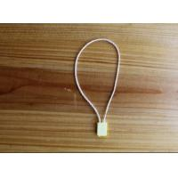 Cheap Custom Clothing Hang Tags with plastic head , professional nylon Rope for sale