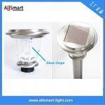 Cheap Stainless Steel 800mah Li-Fe H60cm 100LM Glass Solar LED Garden Light /Solar Light Outdoor pathway Lawn Decoration Lamp for sale