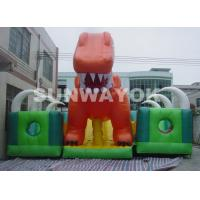 Cheap Kids Inflatable Fun City With Giant Blow Up Slide For Inflatable Theme Park for sale