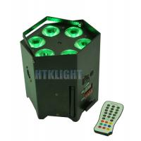 Cheap Durable Battery Powered DMX Lights 6x15W 5in1 With IR Wireless Remote Controller for sale