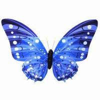 Cheap Artificial/satin paper butterfly shaped refrigerator magnet, used for fridge, curtains and hangings for sale