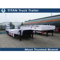 Cheap Customized tri axle low loader heavy duty equipment trailers with JOST or FUWA landing gear for sale