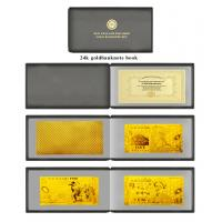 Cheap Full Sets New Zealand Polymer Gold Foil Banknote Book Set For Promotion Gifts for sale