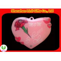 China Supply 2011 cheapest Hot light up led red heart flashing badge Valentine day Gifts on sale