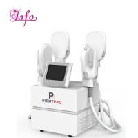 Cheap Newest Multifuntion 4 handles ems electromagnetic build muscle burn fat slimming machine hiemt for slimming for sale