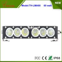 Cheap New products 12V 24V 60w 11.5 inch slim single row led driving light bar for offroad auto for sale