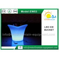 China Recharged Light Up LED Ice Bucket , IP68 PE LED Champagne Bucket For Bars on sale