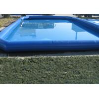 China Popular Blue Kids Swimming Pool , Pirate Slide Above Ground Swimming Pools For Kids on sale