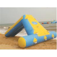 Cheap inflatable floating water park games  spongebob inflatable water slide for kids for sale