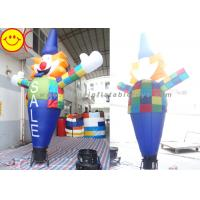 Cheap Smiling Inflatable Clown Air Sky Dancer Logo / Banner Printing For Party for sale