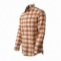 Cheap Men's Plaid Shirt, Comfortable to Wear, Fashionable, UV-stop, Quickly Dry, Long Sleeves  for sale