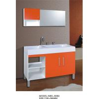 Cheap Artificial stone Basin modern bathroom sink cabinets , square Type shaker bathroom cabinets vanities for sale