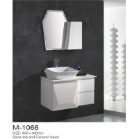 Cheap Waterproof Bathroom Sinks And Vanities / Modern Bathroom Vanities MDF Material for sale