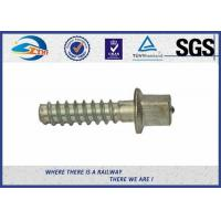 Cheap SS8 Railway Sleeper Screws Railroad Screw Spikes With HDG Coating for sale
