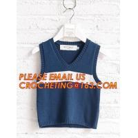 Cheap Hot sale sleeveless, hand knit baby boys stylish sweaters, Fashion clothing kids knit vest pattern child sleeveless swea for sale