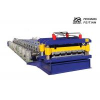 China Color Coated Glazed Tile Roll Forming Machine PLC Control With 0.3 - 0.8mm Thickness on sale