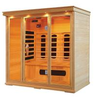 Cheap Hemlock Far Infrared Sauna Cabin for 1 - 5 person , Carbon / Ceramic fiber for sale