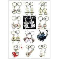 Cheap in stock cheap metal couple key chains personalized China for sale