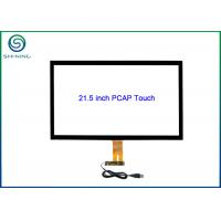 Cheap 21.5 Inch PCAP Touch Glass Kit with USB Controller and USB Cable for Touch Monitors for sale