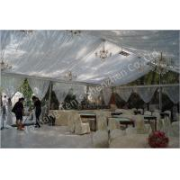 Cheap Backyard Transparent Outdoor Party Tents , Clear Party Tent Rentals With Lining Decorations wholesale