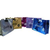 China Non Woven Carry Bag , 75g Coated Unwoven Fabric Shopping Bags With Butterfly Bow on sale