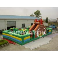 Cheap Durable 0.55 mm PVC Inflatable Funland Dinosaur Inflatable Play Park For Rental for sale