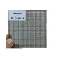 China Interior Decorative Clear Toughened PVB Film Glass Wire Mesh on sale