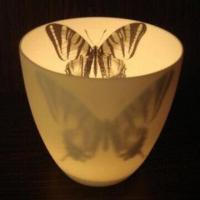 Cheap Ceramic Candle Holder/Candlestick, Slim Design, Butterfly Draft can be Changed Customer's Design for sale