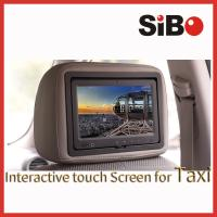 China 9 inch Android taxi advertising display with headrest and advertising software on sale