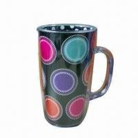 China Plastic Travel Mug with Handle and Insert Paper, Customized Designs are Accepted on sale