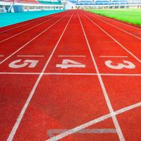China Indoor And Outdoor Jogging Track Material Good Chemical Resistance on sale