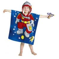 China 100% Cotton Poncho Hooded Towel for kids on sale