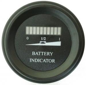 China Round battery gauge 10 Bar LED Digital Battery Discharge Indicator meter for electric LSV NSV golf carts 12V up to 100V on sale
