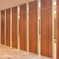 Cheap Soundproof Moveable Doors Sliding Partition Walls Wooden Surface ISO9001 for sale
