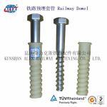 Cheap Railway Plastic Screw Dowel for Concrete Sleeper for sale