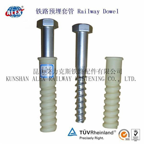 Quality Railway Plastic Screw Dowel for Concrete Sleeper wholesale