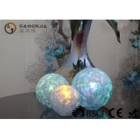 Cheap Set Of 3 Glass Ball Lights Surface With Ice Like Finish OEM / ODM Available for sale