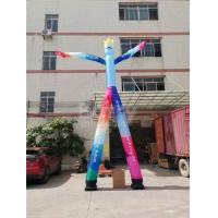Cheap Advertising 2 Lane Inflatable Dancing Man Mr.Welcome With Air Blower for sale