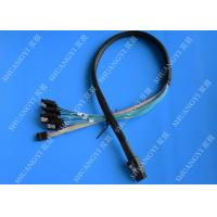 Cheap Internal SFF 8087 To SATA SAS Serial Attached SCSI Cable 75cm With Sideband SGPIO for sale