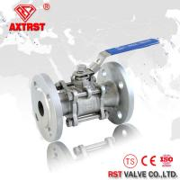 Cheap DIN Stainless Steel 3PC ball valve flanged RF Floating ball type PN16 PN40 for sale