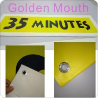 Cheap Canvas / PVC Vinyl Banners Custom Banner Flags With Inkjet Printing wholesale