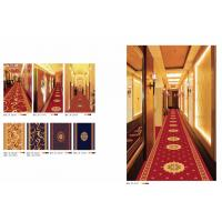 Cheap Red Axminster Machine Made Carpet For Hotel Corridor , Cut Pile Carpet for sale