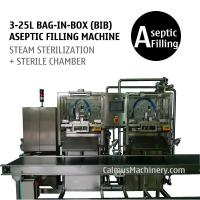 Cheap 3-25L Double-head Bag-in-Box Filling Machine Sterile Products BIB Aseptic Filler for sale