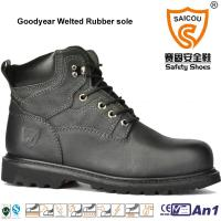 Cheap High Quality Goodyear Welted High Ankle safety boots caterpillar work boots for sale
