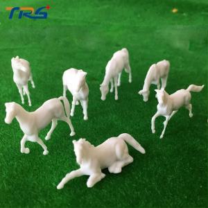 1:87 Model UnPainted White Farm Animals Horse 7 Poses