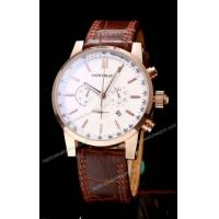 China Mont Blanc Chronograph Watch Rose Gold White Face Leather on sale