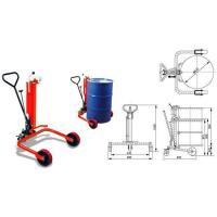 Cheap Drum lifter, 250/550kg oil drum truck with two big size rollers and one caster wheel for sale